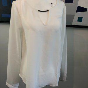 White Long - Sleeved Blouse
